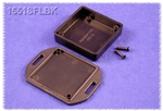 "HAMMOND BLACK PLASTIC ENCLOSURE WITH FLANGED LID 1551SFLBK  1.97"" X 1.97"" X 0.59"" *SPECIAL ORDER*"