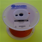 ALPHA 20AWG STRANDED ORANGE HOOKUP WIRE 1553-1000ORG        (1000 FEET)
