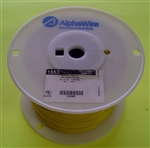 ALPHA 20AWG STRANDED YELLOW HOOKUP WIRE 1553-1000YEL        (1000 FEET)
