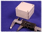 "HAMMOND GREY ABS PLASTIC WATERTIGHT ENCLOSURE 1554BGY       (RAL7035 GREY) 2.6"" X 2.6"" X 1.6"" *SPECIAL ORDER*"
