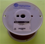 ALPHA 18AWG STRANDED BROWN HOOKUP WIRE 1555-1000BRN         (1000 FEET)