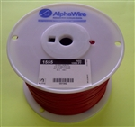 ALPHA 18AWG STRANDED RED HOOKUP WIRE 1555-1000RED           (1000 FEET)