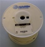 ALPHA 18AWG STRANDED WHITE HOOKUP WIRE 1555-1000WHT         (1000 FEET)