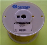 ALPHA 18AWG STRANDED YELLOW HOOKUP WIRE 1555-1000YEL        (1000 FEET)