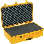 "PELICAN AIR CASE WITH FOAM (MFR# 015550-0000-240) 1555YEL   YELLOW (ID 23.00""L X 12.75""W X 7.50""D) *SPECIAL ORDER*"