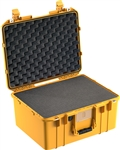 "PELICAN AIR CASE WITH FOAM (MFR# 015570-0000-240) 1557YEL   YELLOW (ID 17.33""L X 13.00""W X 9.75""D) *SPECIAL ORDER*"