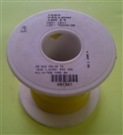 ALPHA 20AWG SOLID YELLOW HOOKUP WIRE 1563-100YEL            (100 FEET)