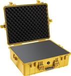 "PELICAN CASE WITH FOAM YELLOW (MFR# 1600-000-240) 1600YEL   (ID 21.43""L X 16.50""W X 7.87""D) *SPECIAL ORDER*"