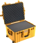 "PELICAN AIR CASE WITH FOAM (MFR# 016070-0000-240) 1607YEL   YELLOW (ID 21.05""L X 15.81""W X 11.63""D) *SPECIAL ORDER*"