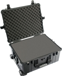 PELICAN CASE W/WHEELS & FOAM BLK 1610BLK