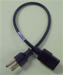 "VOLEX 18/3 SVT 18"" 5-15P C13 IEC EQUIPMENT CORD, POWER CABLE (18 INCH) 125V 10 AMP RATED 17002A"