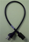 "VOLEX 16/3 SJT 24"" IEC320-C13 TO 5-15P EQUIPMENT CORD,      POWER CABLE (24 INCHES/2 FEET), 125V 13 AMP RATED 17041A"