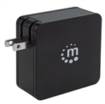 MANHATTAN POWER DELIVERY WALL CHARGER 60W 180214            USB-C PWR DELIVERY PORT(TO 60W) USB-A CHARGING PORT(TO 2.4A)