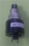 GRAYHILL SPST-NC BLK PUSHBUTTON SWITCH 10A 2202             SOLDER STYLE - NOT COMPATIBLE WITH CRIMP TERMINALS