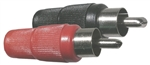 MODE RCA PLASTIC PLUGS RED & BLK 24-109-4