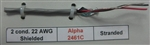 ALPHA 22AWG 2 CONDUCTOR STRANDED SHIELDED GRAY PVC          CMG/FT4 300V 75C CABLE 2461C (305M = FULL ROLL)