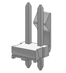 MOLEX .156 2-POLE HEADER 26-60-4020P