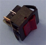 EATON DPST RED ROCKER SWITCH 22A/125V 2600HR11E