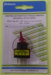 PHILMORE DUCKBILL SWITCH RED 30-12174                        ** NOT TESTED/RATED FOR 120/220V AC ** 12VDC/20A