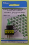 PHILMORE DUCKBILL SWITCH GRN 30-12179                        ** NOT TESTED/RATED FOR 120/220V AC ** 12VDC/20A