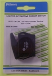 PHILMORE AUTOMOTIVE ROCKER SWITCH W/QC TERMINALS 30-12281   SPST ON-OFF 20A/12VDC ** NOT RATED/TESTED ON 120V/220V **