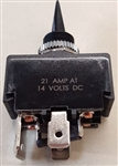 PHILMORE REVERSING TOGGLE SWITCH (ON)-OFF-(ON) DPDT 30-125  14VDC/21A  ** NOT TESTED/RATED FOR 120/220V AC **