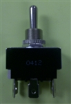 "PHILMORE DPDT TOGGLE SWITCH 20A ON-OFF-ON 1/4"" QC 30-325B"