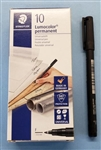 STAEDTLER ACID MARKING PEN FINE POINT (318-9) 318 BLK