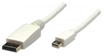 MANHATTAN MINI D-PORT MALE TO D-PORT MALE 2M WHITE 393812   DISPLAY PORT-VIDEO/AUDIO/USB DATA