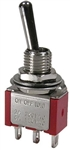 MODE ON-ON SPDT MINI TOGGLE SWITCH 41-233T-0                5A@120VAC/28VDC UL/CSA