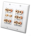 VANCO 5.2 HOME THEATER CONNECTION WALL PLATE 45-0060
