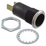 VCC BAYONET LAMP SOCKET T3-1/4 W/QC TERMINALS 5100-824      *NO RESISTOR*  MAXIMUM RATING : 250 VOLTS / 3 WATTS