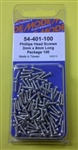 MODE PHILIPS SCREW (2X8MM) (100 PK) 54-401-100