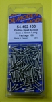 MODE PHILIPS SCREW (2X10MM) (100 PK) 54-402-100