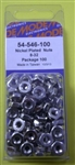 MODE NICKEL PLATED NUTS (8-32) (100 PK) 54-546-100