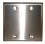 PHILMORE STAINLESS STEEL DOUBLE GANG PLATE 70-7412B
