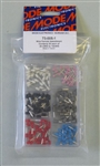 MODE ASSORTED WIRE FERRULE KIT 73-005-1                     PINK/WHITE/BLUE/RED/GRAY/BLACK - 30PCS/COLOUR