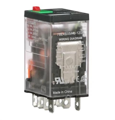 magnecraft 120vac icecube relay dpdt 15a 12a 782xbxm4l120a 4 wire relay wiring diagram magnecraft relay wiring diagram #7