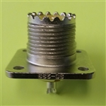 AMPHENOL UHF PANEL RECEPTACLE 4 HOLE SQ 83-1R (E0224)