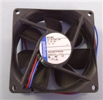 EBM-PAPST 8412NLE 12VDC BALL BEARING FAN 80MM X 80MM X 25MM 19.4CFM 17DB 0.3W 0.03A 1500RPM 2 WIRE