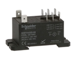 SCHNEIDER 24VAC POWER RELAY DPDT 30A-NO/3A-NC  92S11A22D-24 FLANGE MOUNT STYLE