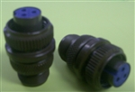 AMPHENOL 3-PIN FEMALE INSERT STR CABLE PLUG 97-3106A-10SL3S