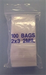 "POLY BAG SELF SEALING W/WINDOW 2""X3"" (100/PK) BAG2X3"