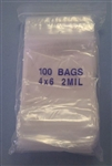 "POLY BAG SELF SEALING W/WINDOW 4""X6"" (100/PK) BAG4X6"