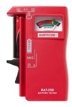 AMPROBE THREE INDICATOR BATTERY TESTER BAT250               TEST STANDARD AND RECHARGEABLE BATTERIES
