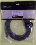 SIGNAMAX CAT5E BLACK PATCH CORD W/BOOT (25FT) C5E114BK25FB  CABLE