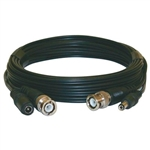 CIRCUIT TEST CCD-BNC25 SECURITY CAMERA EXTENSION CABLE,     BNC PLUG TO PLUG & 2.1MM PLUGS, 25FT BLACK