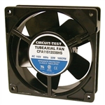 "CIRCUIT TEST CFA11512038HS 115VAC SLEEVE BEARING FAN 120MM  X 120MM X 38MM 105CFM 46DB 22W 0.24A 3000RPM 1/8"" TERMINALS"