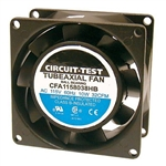 CIRCUIT TEST CFA1158038HB 115VAC BALL BEARING FAN           80MM X 80MM X 38MM 32CFM 34DB 3100RPM