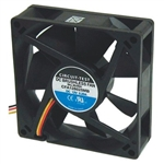 CIRCUIT TEST CFA128025MB 12VDC BALL BEARING 3-WIRE FAN      80MM X 80MM X 25MM 37CFM 29.8DB 2700RPM